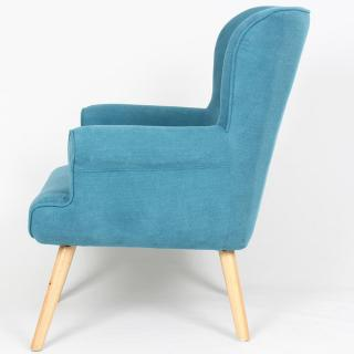 fauteuils design canap s et convertibles fauteuil fixe design scandinave pinto tissu bleu. Black Bedroom Furniture Sets. Home Design Ideas