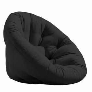 Fauteuil futon design MANFRED coloris gris foncé couchage 110 x 220 cm.