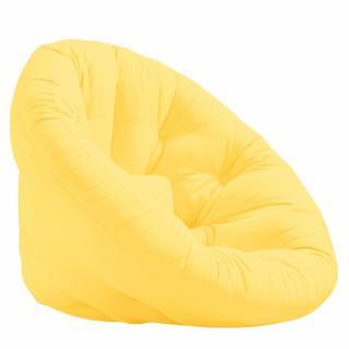 Fauteuil futon design MANFRED coloris jaune couchage 110 x 220 cm.