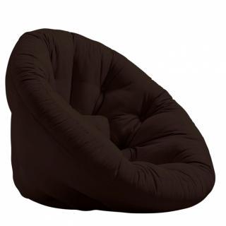 Fauteuil futon design MANFRED coloris marron couchage 110 x 220 cm.