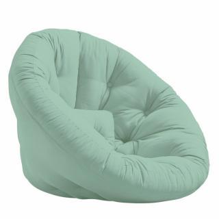 Fauteuil futon design MANFRED coloris menthe couchage 110 x 220 cm.