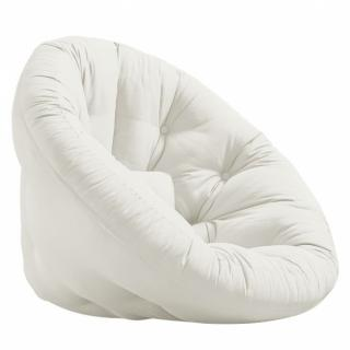 Fauteuil futon design MANFRED tissu lin couchage 110 x 220 cm.