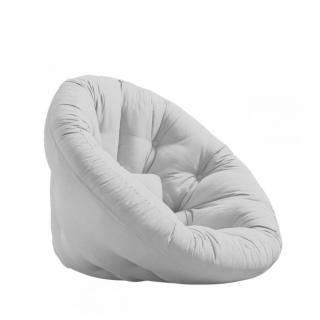 Fauteuil futon design NILS coloris gris clair couchage 90 x 180 cm.