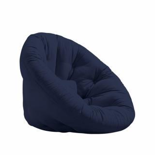 Fauteuil futon design NILS coloris marine couchage 90 x 180 cm.