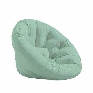 Fauteuil futon design NILS coloris menthe couchage 90 x 180 cm.