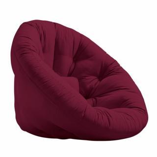 Fauteuil futon design NEST bordeaux couchage 110*220*14cm