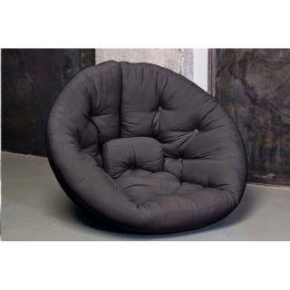 Fauteuil futon design NEST grey graphite couchage 110*220*14cm