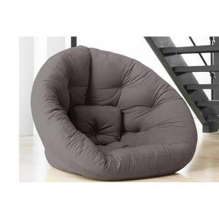 Fauteuil futon design NEST gris couchage 110*220*14cm