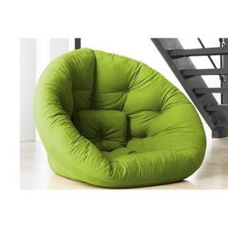 Fauteuil futon design NEST vert lime couchage 110*220*14cm