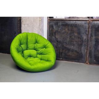 fauteuils convertibles canap s et convertibles fauteuil futon design nest vert lime couchage. Black Bedroom Furniture Sets. Home Design Ideas