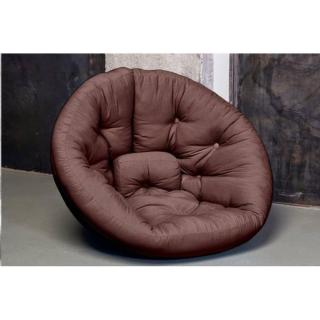 Fauteuil futon design NEST marron couchage 110*220*14cm