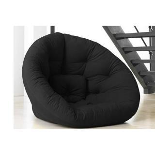 Fauteuil futon design NEST noir couchage 110*220*14cm
