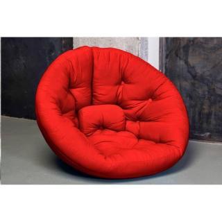 Fauteuil futon design NEST rouge couchage 110*220*14cm