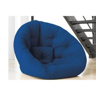 Fauteuil futon design NEST bleu royal couchage 110*220*14cm