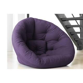 Fauteuil futon design NEST violet couchage 110*220*14cm
