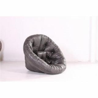 Fauteuil futon design NEST vintage noir couchage 110*220*14cm