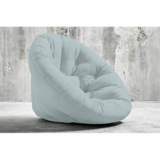 Fauteuil futon design NIDO bleu pastel couchage 90*180*14cm