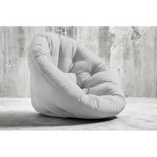 Fauteuil futon design NIDO gris clair couchage 90*180*14cm