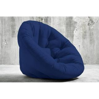 Fauteuil futon design NIDO bleu royal couchage 90*180*14cm
