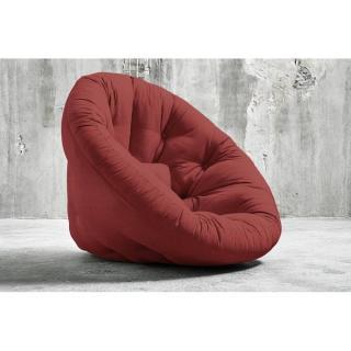 Fauteuil futon design NIDO brique couchage 90*180*14cm