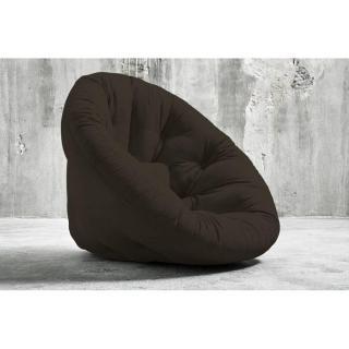 Fauteuil futon design NIDO chocolat couchage 90*180*14cm