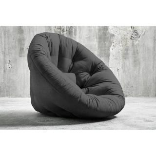 Fauteuil futon design NIDO graphite couchage 90*180*14cm