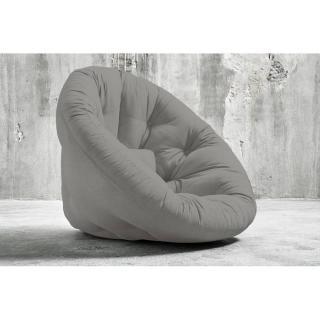 Fauteuil futon design NIDO gris couchage 90*180*14cm
