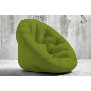 Fauteuil futon design NIDO vert couchage 90*180*14cm