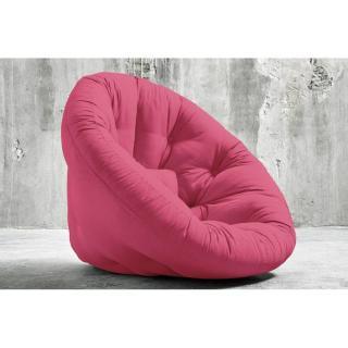 Fauteuil futon design NIDO rose magenta couchage 90*180*14cm