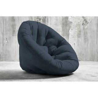 Fauteuil futon design NIDO bleu marine couchage 90*180*14cm