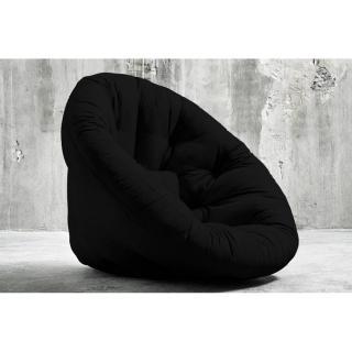 Fauteuil futon design NIDO noir couchage 90*180*14cm