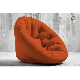 Fauteuil futon design NIDO orange couchage 90*180*14cm