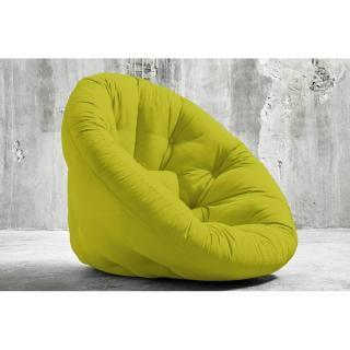 Fauteuil futon design NIDO pistache couchage 90*180*14cm