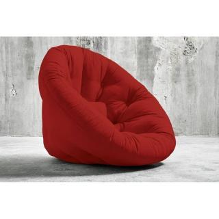 Fauteuil futon design NIDO rouge couchage 90*180*14cm