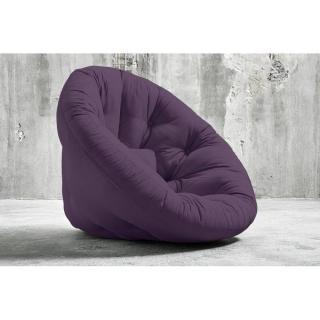 Fauteuil futon design NIDO violet couchage 90*180*14cm