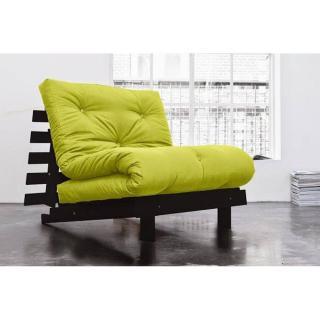 Fauteuil BZ wengé ROOTS WENGUE futon vert pistache couchage 90*200cm