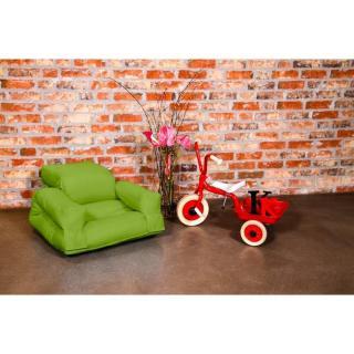 Fauteuil enfant lit HIPPO futon vert lime couchage 65*140*12cm