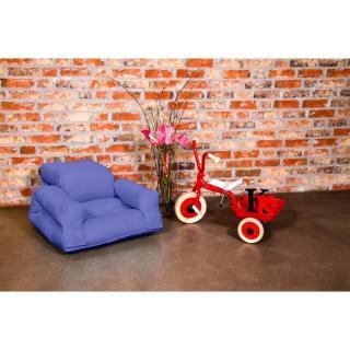 Fauteuil enfant lit HIPPO futon mauve  couchage 65*140*12cm