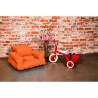 Fauteuil enfant lit HIPPO futon orange couchage 65*140*12cm