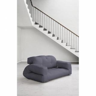 Fauteuil lit 2 places HIPPO futon gris couchage 140*200*25cm