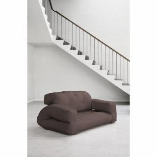 Fauteuil lit 2 places HIPPO futon marron couchage 140*200*25cm