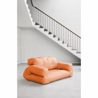 Fauteuil lit 2 places HIPPO futon orange couchage 140*200*25cm