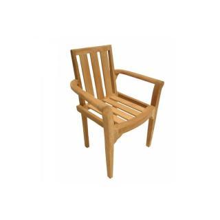 Lot de 2 fauteuils de jardin FUN en teck