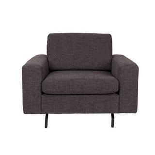 ZUIVER Fauteuil JEAN tissu anthracite