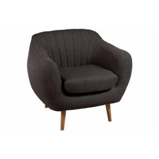 Fauteuil KAPPA en Tissu Marron Style Scandinave
