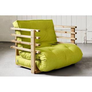 fauteuils convertibles canap s et convertibles fauteuil lit en pin massif funk futon vert. Black Bedroom Furniture Sets. Home Design Ideas