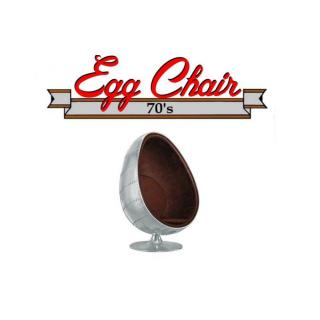 Fauteuil pivotant Oeuf Egg chair AVIATEUR Aluminium Style Vintage. Design 70's.