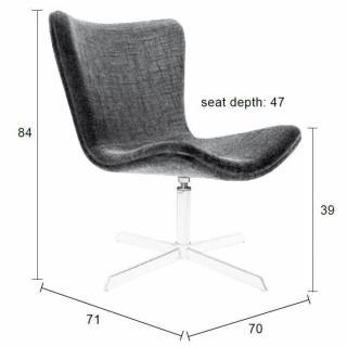 fauteuil pivotant design jwell tissu gris 2 Résultat Supérieur 50 Inspirant Fauteuil Pivotant Tissu Photos 2017 Hyt4