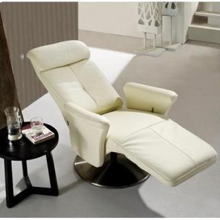 Fauteuils relax et design au meilleur prix adam fauteuil relax cuir vachett - Fauteuil relax cuir blanc ...