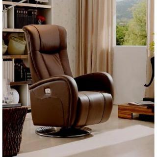 DESIRE fauteuil relax électrique (bi-moteur) cuir vachette marron